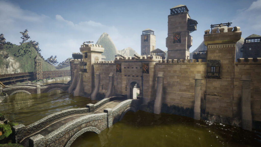 An image showing Walls And Towers asset pack, created with Unreal Engine 4.