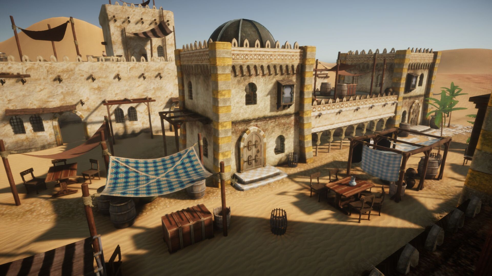 An image showing Desert Oasis asset pack, created with Unreal Engine 4.