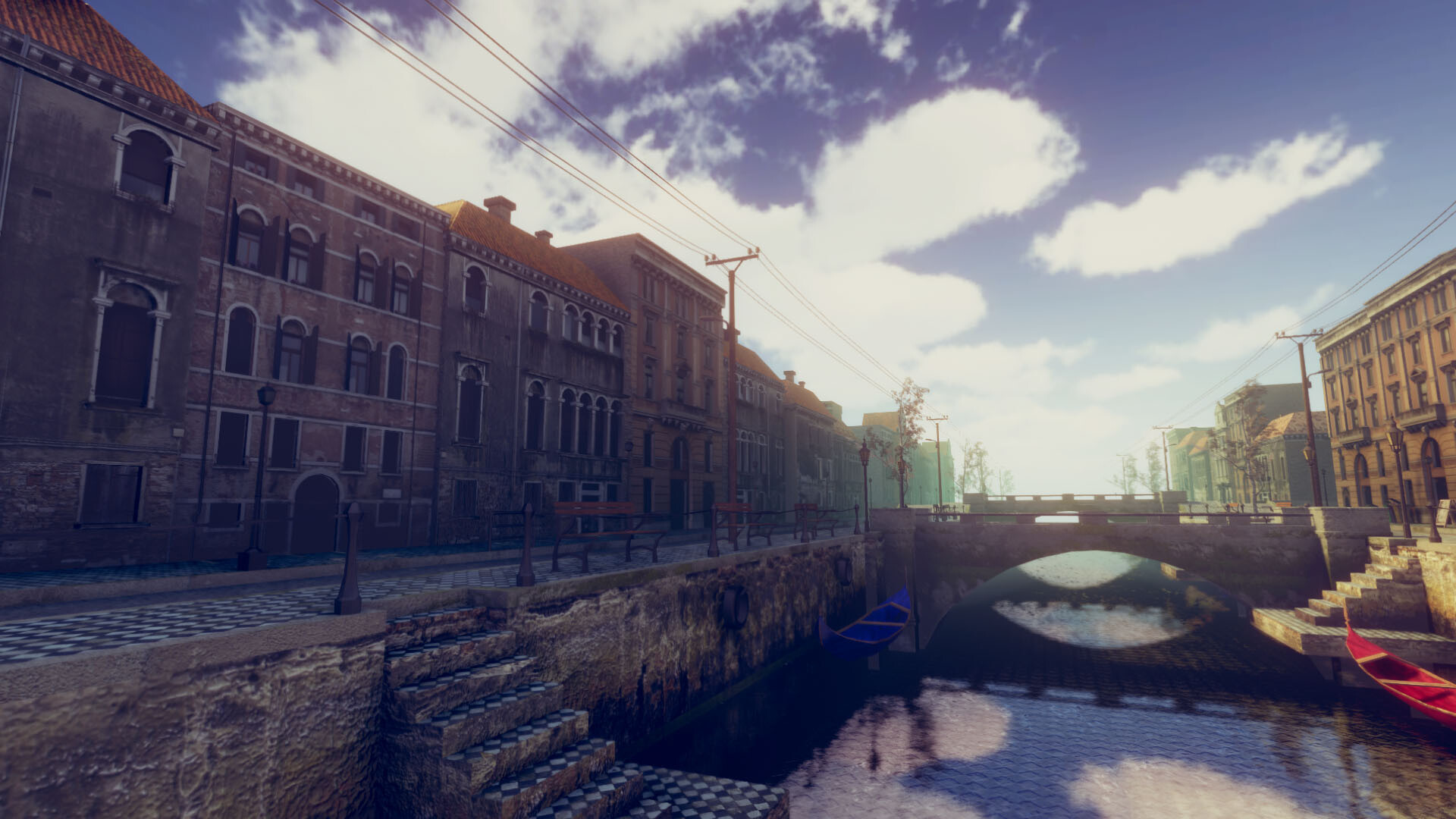 An image showing Venice asset pack, created with Unity Engine.
